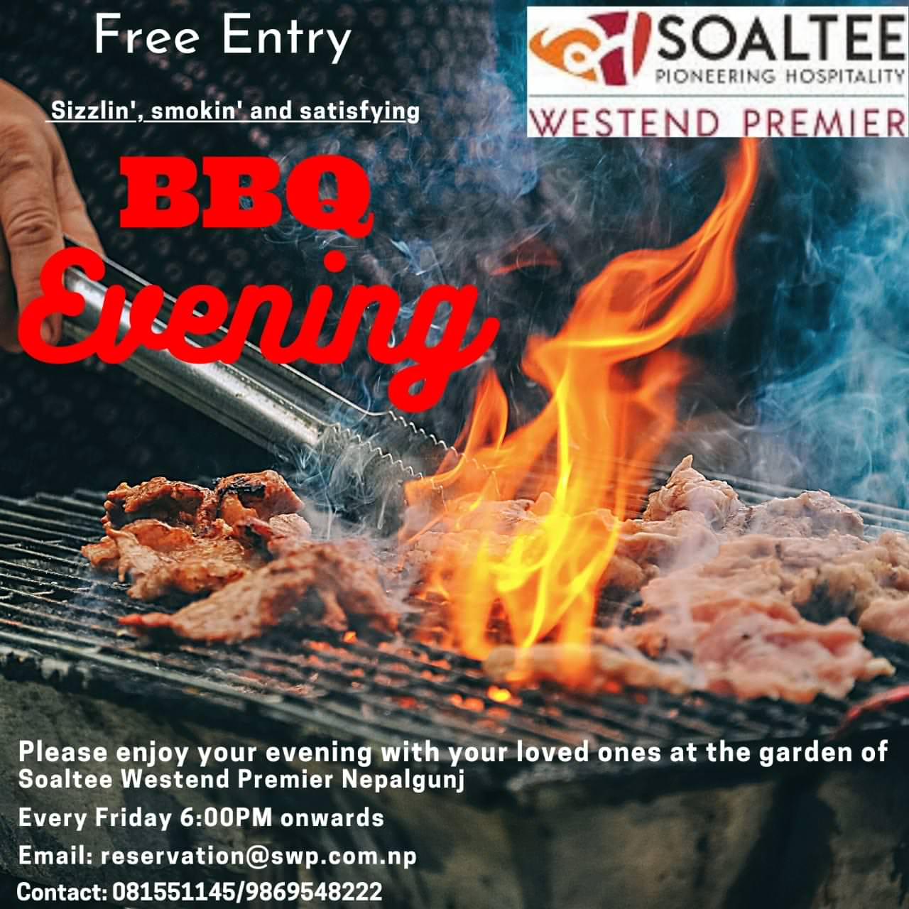 Soaltee Westend Premier Barbicue Time Every Friday